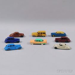 Eight Meccano Dinky Toys Die-cast Metal Automobiles