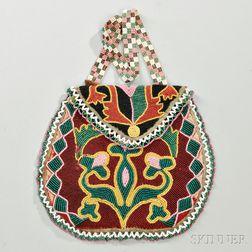 Delaware Beaded Cloth Bag
