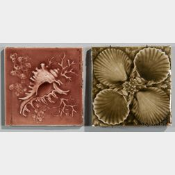 Two American Encaustic Tiling Co, Art Pottery Tiles