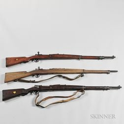 Three Mauser-type Bolt-action Military Rifles
