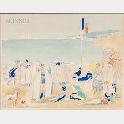 Kees van Dongen (Dutch/French, 1877-1968)      Deauville La Plage