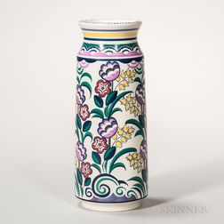 Poole Pottery Floral-decorated Vase