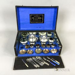 F.A.O. Schwarz Boxed Child's Tea Set.     Estimate $200-300