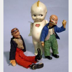 Bucherer Mutt and Jeff and All Composition Kewpie Doll