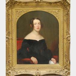 Frederick R. Spencer (New York, 1806-1875)      Portrait of Maria Louisa Brownell, Second Wife of Gordon Webster Burnham.