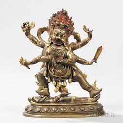 Gilt-copper Alloy Figure of Mahakala