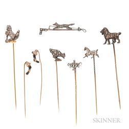 Collection of Antique Diamond Stickpins