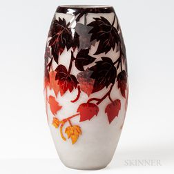 Degue Cameo Glass Vase