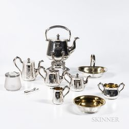 Ten-piece Russian .875 Silver Tea and Coffee Service
