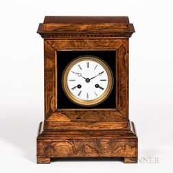 Rosewood Shelf Clock