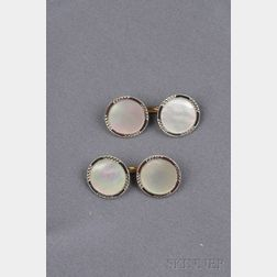14kt Gold, Platinum, and Mother-of-pearl Dress Set, Tiffany & Co.