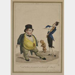 Henri Buguet (French, 1761-c. 1833)      Les Passions, No. 7/ Lord-tolan prenant sa leçon de danse