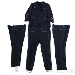 Cowboy Chuck Ryan     Navy Blue Nudie Suit