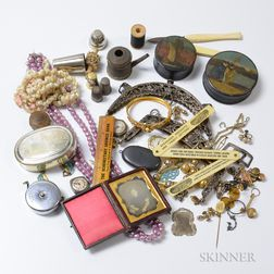 Group of Jewelry and Sewing Accessories