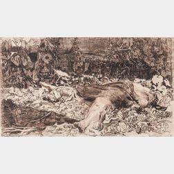 Käthe Kollwitz (German, 1867-1945)      Vergewaltigt