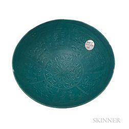Asian Blue-glazed Ceramic Bowl