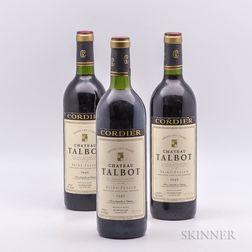 Chateau Talbot 1982, 3 bottles
