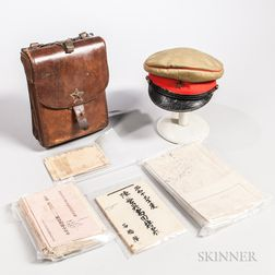 Imperial Japanese Map Case, Maps, and an M38 Officer's Cap