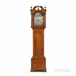 Levi & Abel Hutchins Maple Tall Clock