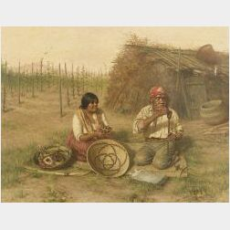 Grace Carpenter Hudson (American, 1865-1937)  The Basket Weavers
