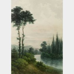 Charles Wesley Sanderson (American, 1835-1905)  Near Argenteuil, France