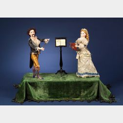 "Rare Lambert Automaton of ""La Lecon du Chante"" (The Singing Lesson)"