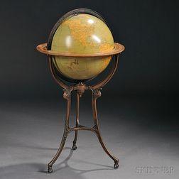 Weber Costello Co. 18-inch Terrestrial Library Globe