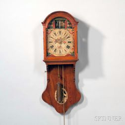 Mahogany Friesland Clock with Soldier Automata in the Arch