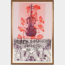 Robert Rauschenberg (American, 1925–2008)      Boston Symphony Orchestra 1881-1981  /100th Anniversary Poster