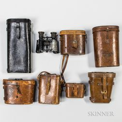 Group of Military Binoculars