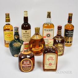 Mixed Scotch, 1 quart bottle 6 4/5 quart bottles 1 750ml bottle 1 bottle