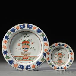 Chinese Export Porcelain Export Charger and Matching Deep Dish