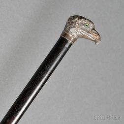 French .800 Silver-mounted Swagger Stick