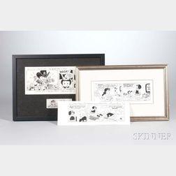 "Guy Gilchrist (b. 1957) Three Original ""Nancy"" Comic Strip Panels"