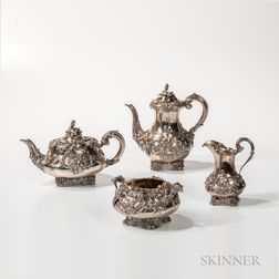 Four-piece William IV Sterling Silver Tea and Coffee Service