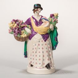 Charles Vyse Pottery Figure The Tulip Woman
