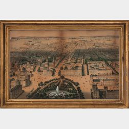 Bird's-eye View of New York City South from Union Square in 1849