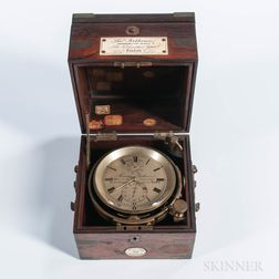 Thomas Porthouse Ship's Chronometer for Captain Davis of the Philena