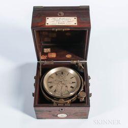 Thomas Porthouse Ship's Chronometer for Captain Davis of the Philena
