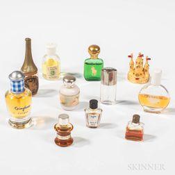 Ten Miniature Perfumes