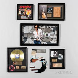 Five RIAA Certified Gold and Platinum Record Sales Awards