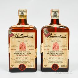 Ballantines 10 Years Old, 2 4/5 quart bottles