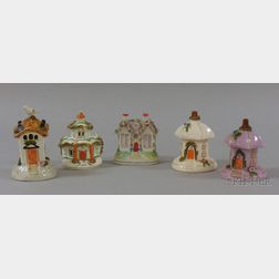 Five English Staffordshire Cottage Figural Items