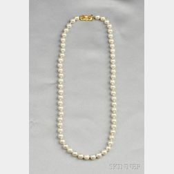Cultured Pearl Necklace, Mikimoto