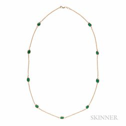 14kt Gold and Emerald Necklace