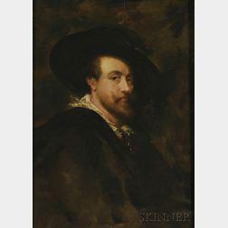 After Sir Peter Paul Rubens (Flemish, 1577-1640)      Self Portrait