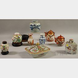 Nine Assorted Chinese and Japanese Ceramics