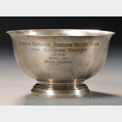 Sterling Silver Junior Yacht Club Trophy Bowl