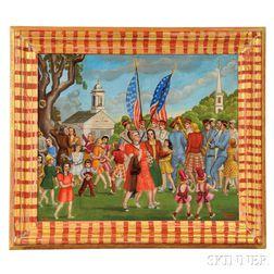Dorothy Eaton (American, 1893-1968)       American Parade Scene.