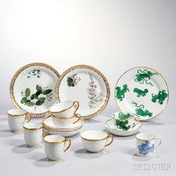 Eight Wedgwood First Period Bone China Items